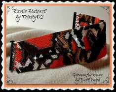Exotic Abstract Even Count Peyote by TrinityDJ on Etsy Peyote Patterns, Beading Patterns, Jewelry Patterns, Bracelet Patterns, Peyote Bracelet, Peyote Stitch, Brick Stitch, Bead Weaving, Seed Beads