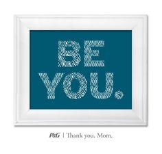 """""""Be you."""" What's the best advice your mom gave you? In the spirit of Mother's Day, tweet the words of wisdom she passed down to you with #momswisdom or post on https://www.facebook.com/thankyoumom"""