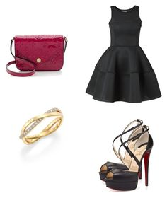 """""""Untitled #130"""" by deaswarderob ❤ liked on Polyvore featuring Christian Louboutin, Louis Vuitton and De Beers"""