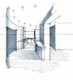 Perspective hall bureau cuisine Philippe Ponceblanc architecte d'intérieur http://www.architecte-interieur.com