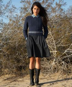 Button Back Sweater and Pleated Circle Skirt - Levi.com