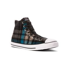 Converse Chuck Taylor All Star High Top Woolrich ($80) ❤ liked on Polyvore featuring shoes, sneakers, athletic-inspired, women's, high top shoes, converse footwear, converse sneakers, high top sneakers and hi tops