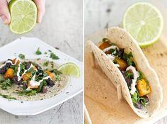 Roasted Squash & Portabello Tacos