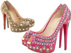 Christian Louboutins Bollywoody heels from their S/S range