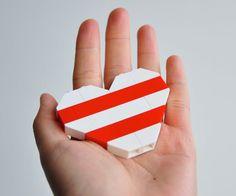Lego Heart Brooch.
