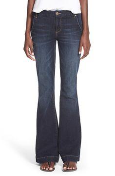 Junior Women's 1822 Denim Trouser Flare Jeans (Dark Wash)