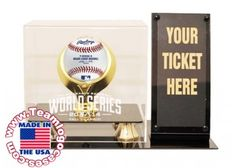 2014 World Series Baseball Case With Ticket Holder