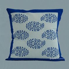 Floral Square Cotton Home Décor Pillows Cheap Throw Pillows, Floral Throw Pillows, Toss Pillows, Throw Pillow Cases, Pillow Shams, Decorative Pillows, Indian Pillows, Printed Cotton, Blue And White