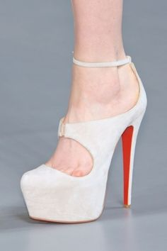 high heels white shoes by SMAK