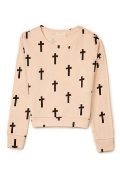 Cross Print Sweatshirt (Kids) | FOREVER21 girls - 2000110808  #ForeverHoliday #WishPinWin Forever21.com