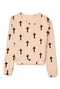 Cross Print Sweatshirt (Kids)   FOREVER21 girls - 2000110808  #ForeverHoliday #WishPinWin Forever21.com
