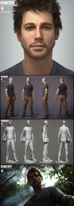 Far Cry 3 Character Modelling using ZBrush. join us http://pinterest.com/koztar/