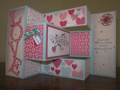 Creating With Carol: Making a Tri-Shutter Card with our Stampin' Trimmer