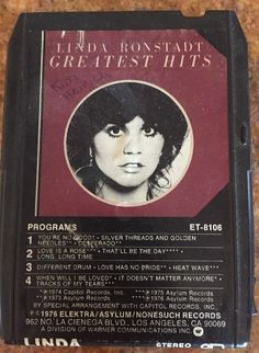 I remember listing to Linda Ronstadt back in the day! #8tracktape #70svintageaudio