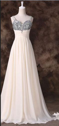 Sweetheart A-line Chiffon Floor-length Dress with Beaded Embellishment