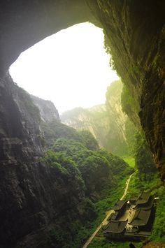 """Houping Tiankeng Group, Wulong, China. (South China Karst UNESCO World Heritage Site) This is the movie scene in """"Curse of the Golden Flower"""". #china #travel"""
