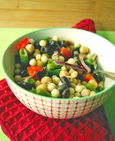 Three Bean Salad with Pearl Couscous