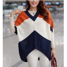 Buy Dowisi Elbow-Sleeve Color Block Sweater at YesStyle.com! Quality products at remarkable prices. FREE WORLDWIDE SHIPPING on orders over Mex$650.