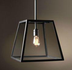 loft caixa de vidro de filamentos edison antigo pendente luminárias
