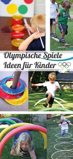 Olympische Spiele – Partyideen für Kinder – Olympia Ideen // Olympics – Party Ideas for Kids – Olympia Ideas // games Indoor Activities For Kids, Games For Kids, Diy For Kids, Children Games, Summer Activities, Olympic Idea, Olympic Games, Olympic Gymnastics, Childrens Party Games