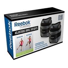 Reebok Adjustable Ankle Weights 5LB SET #irongear #accessories