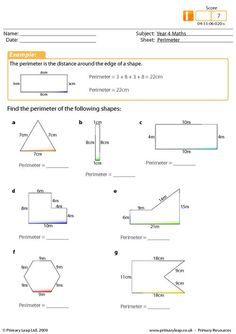 math worksheet : year 4 maths perimeter worksheet  maths printable worksheets  : Yr 4 Maths Worksheets