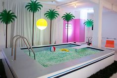 Vaporwave Room: Isabel and Helen: No Diving for the vitamin water Shinebright Studio Kids Indoor Playground, Kids Cafe, Kindergarten Design, Cool Pools, Dream Rooms, My New Room, Retail Design, Store Design, Set Design