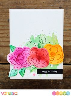 Hello everyone! I am here with a card using a special stamp set from Winnie & Walter today. Its name is In Bloom: Julie's Roses and it coor...