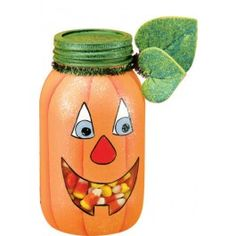 """Mom loved this,  She brought a jar over and now she has a cute jar for the """"boys"""" to eat candy corn out of."""