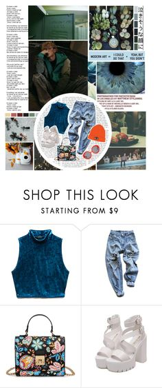 """""""we know exactly who we are"""" by the-neon-rose ❤ liked on Polyvore featuring Forever 21, Levi's, Preen and btspolyvorearmy"""