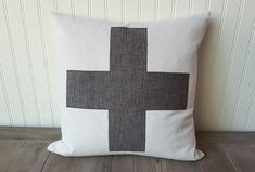 Swiss Cross Pillow  Plus Sign Pillow Cover  by sweetcitrushome