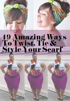 19 Amazing Ways To Twist, Tie And Style Your Scarf- been thinking about freshening my style on a budget