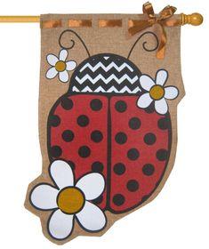 IAmEricas Flags - Burlap Ladybug Decorative House Flag, $33.00 (http://www.iamericasflags.com/products/burlap-ladybug-decorative-house-flag.html)