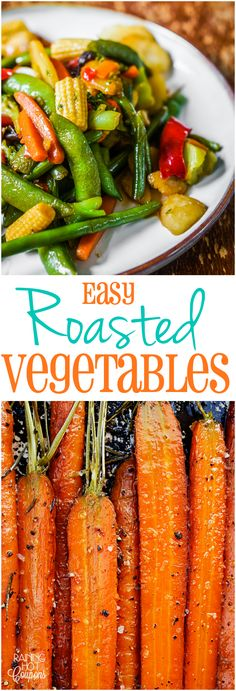 Easy Roasted Vegetables Click through for this healthy vegetable side dish. Side Dish Recipes, Vegetable Recipes, Vegetarian Recipes, Cooking Recipes, Healthy Recipes, Healthy Snacks, Healthy Eating, Healthy Candy, Roasted Vegetables
