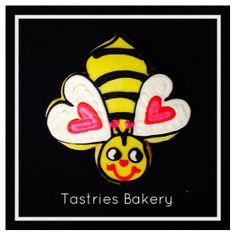 Will you BEE my Valentine? Designer cookies from Tastries Bakery, Bakersfield Bakery.