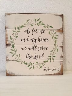 """As for me and my house we will serve the Lord 13""""w x 14"""" hhand-painted – WildflowerLoft"""