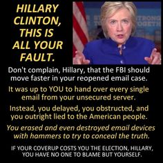 Lies,corruption and lying during the debates. Belittling Trump when video proved she DID make the comparison to the Gold standard. She can't be trusted or expected to keep us safe.