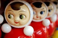 I remember this toy so well. Everyone that had kids had this nevalashka.  :) Russian/Ukrainian childrens toy.