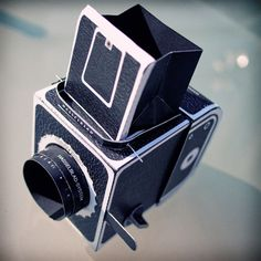 Paper Pinhole Hasselblad - Free Download would be cute to give a kid and you wouldn't have to worry about them breaking it