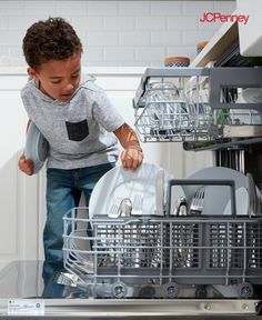 Tap to Shop!// Loading the LG Dishwasher with QuadWash™ System is so easy even your little helper can can do it. Sleek on the outside, powerful on the inside—Cleaning in Motion technology uses with four spray arms and two multi-motion arms that rotate back and forth while spinning. Quiet and energy efficient, the LG Dishwasher with QuadWash™ System adds style and everyday ease to any kitchen.