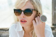 shades and house of harlow ring