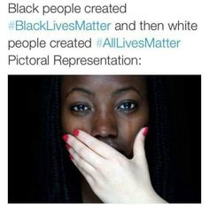 A beautiful illustration of the concept of #AllLivesMatter vs....