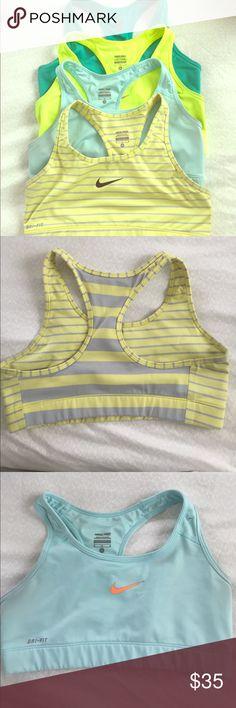 Nike pro sports bras Set of 4 Nike pro sports bras. Like new! Nike Intimates & Sleepwear Bras