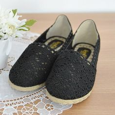 Espadrille Crochet Slip-Ons http://koreanfashionworld.com/product/espadrille-crochet-slip-ons http://koreanfashionworld.com/category/korean-shoes