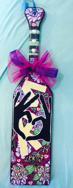 Sigma kappa paddle  I made for my big :)