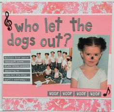 It is my turn to host a challenge at Mystical Scrapbooks and I'm challenging you to add some Music to your page. I have used a song title.