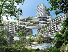 Apartments 'The Interlace' Residential Complex, Singapore by OMA Singapore Architecture, Architecture Résidentielle, Amazing Architecture, Futuristic Architecture, Singapore Garden, Singapore Singapore, Passive Design, Future Buildings, Residential Complex