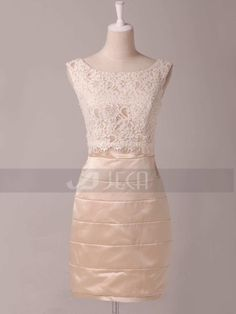 Vintage Style Knee Length Bridesmaid Dress Mother of Bride Dress by JecaBridal on Etsy https://www.etsy.com/listing/172462470/vintage-style-knee-length-bridesmaid