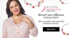 October is Breast Cancer Awareness Month! Show your support by purchasing one of these lovely pieces of jewelry Avon is donating a portion of all proceeds to the Breast Cancer Foundation Order online today @ www.youravon.com/chasitygann