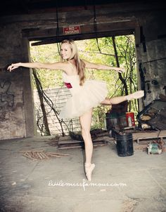 Creative Senior Girl Photography Session Ballet ballerina urban grunge   Photography by www.briwoodschaney.com  formerly littlemissfamous.com